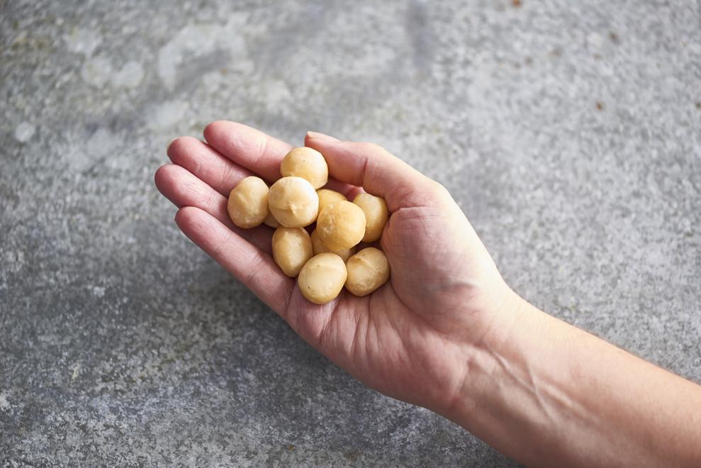 Handful of macadamias