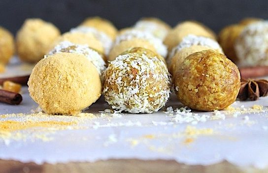 Nuts for Life - Golden spiced mango coconut bliss bites