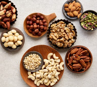 Nuts for Life - Mixed nut kernels in bowls